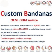 Custom Made Cycling Bandana, Digital Printing Seamless Tube
