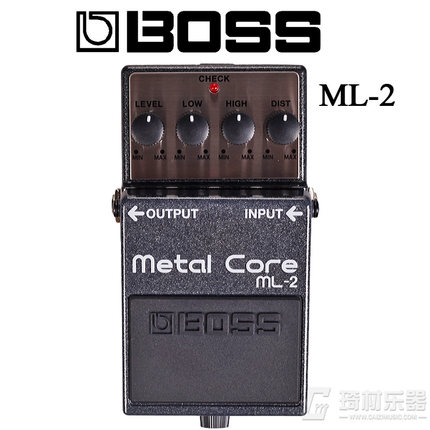 Boss Audio ML-2 Metal Core Distortion Pedal with Low and High settings, Metal Case Construction boss metal zone mt 2