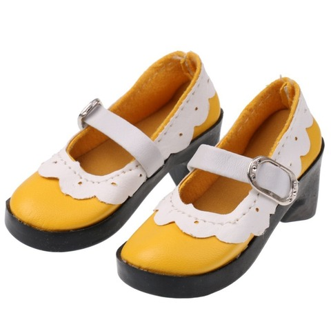 1 Pair Lace up PU Leather Lolita Strap Shoes Block Heel Shoes for 1/3 BJD SD AOD Dollfie Doll Shoes Doll Clothes Accessories Islamabad