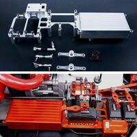 Сплав с ЧПУ оборудования ящик двойной Servo Радио лоток для 1/5 ROVAN LT LOSI 5IVE T ДДТ 5 т RC автомобиль Запчасти