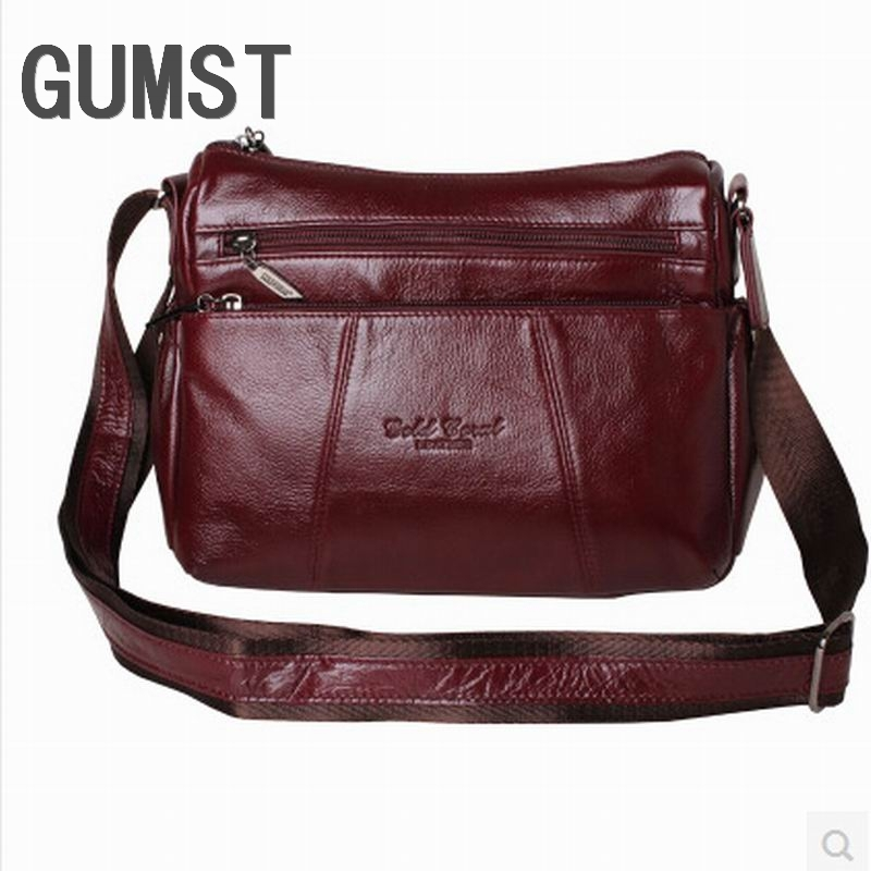 Fashion All match Women s Messenger Bag 100 Genuine Leather Handbags cowhide shoulder crossbody bags for