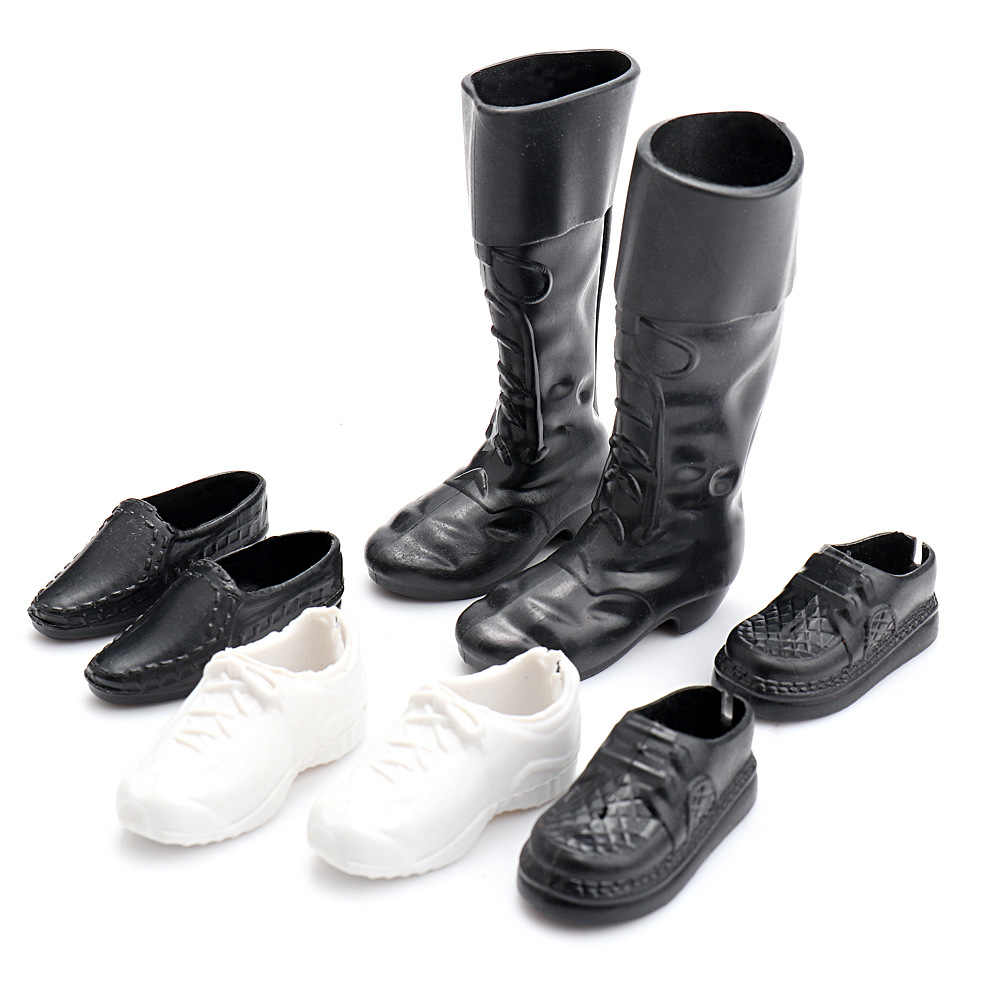 4 Pairs/set Clothes Accessories Dress Up For  Friend Dolls Cusp Shoes Sneakers Knee High Boots For  Boyfriend Ken doll