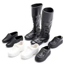 4 пар/компл. одежда аксессуары Наряжаться для друга куклы обувь с шипами Кроссовки Сапоги До Колена Для парень Кэн куклы