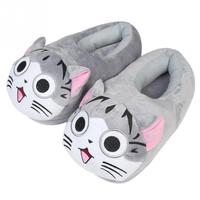 1pair Cartoon Cat Cotton Slippers Soft Warm Home Slipper Anime Cartoon Plush Stuffed Slippers Plush Shoes