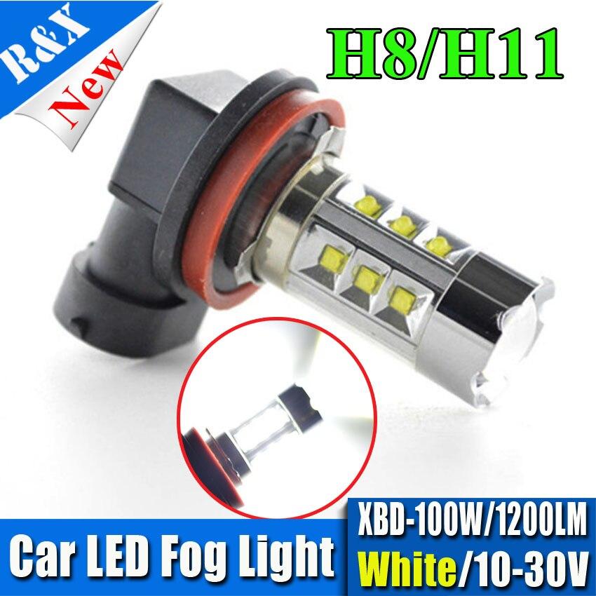 2x Super Bright White 1200LM H4 H7 H11 1156 1157 100W XBD LED Turn Brake Signal Reverse Car Fog Light Fog Lamp DRL LED 10V-30V