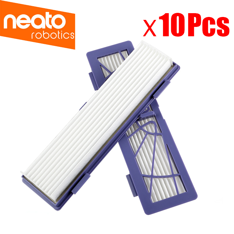 10Pcs Replacement HEPA dust filter for Neato BotVac 70e,75 80 85 series Robotic Vacuum Cleaners Robot parts 1 piece robot brush motor belt for neato botvac series 70e 75 80 85 robotic vacuum cleaner brush drive parts