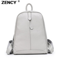 ZENCY Soft Real Natural Cow Leather Women Backpack Genuine Leather BackpacksTop Layer Cowhide Women Backpacks Girl