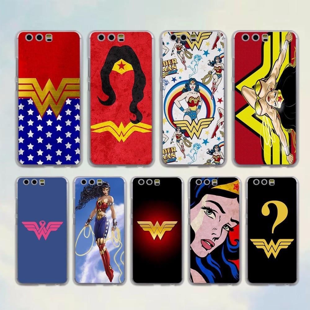 Wonder Woman костюм Цвета Стиль Прозрачный чехол для Huawei P10 P9 Lite P10 плюс P8 Ascend G7 G8 Коврики 9 s 8