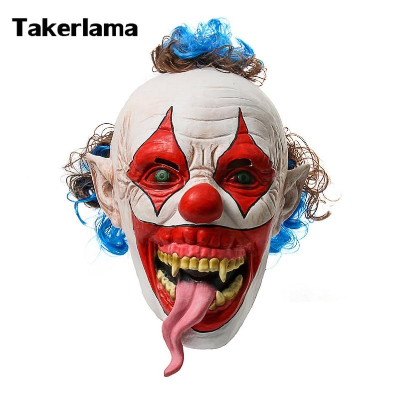 takerlama snake tongue creepy evil clown mask scary