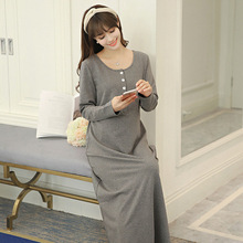 pregnant dresses for women  dress pregnant  maternity dress  long sleeve dress  Cotton  Full  Ankle-Length  Casual
