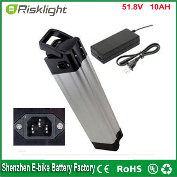Top discharge 14S 52v 10ah rechargeable li-ion battery,18650 51.8V 10ah Li-ion battery pack for electric bike with Charger +bms free shipping 50a discharge rate lithium battery 48v 50ah 18650 rechargeable li ion battery pack with 2000w bms and charger