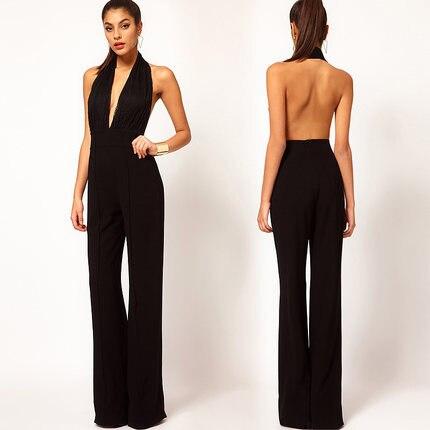 Popular Black Halter Neck Jumpsuit-Buy Cheap Black Halter Neck ...