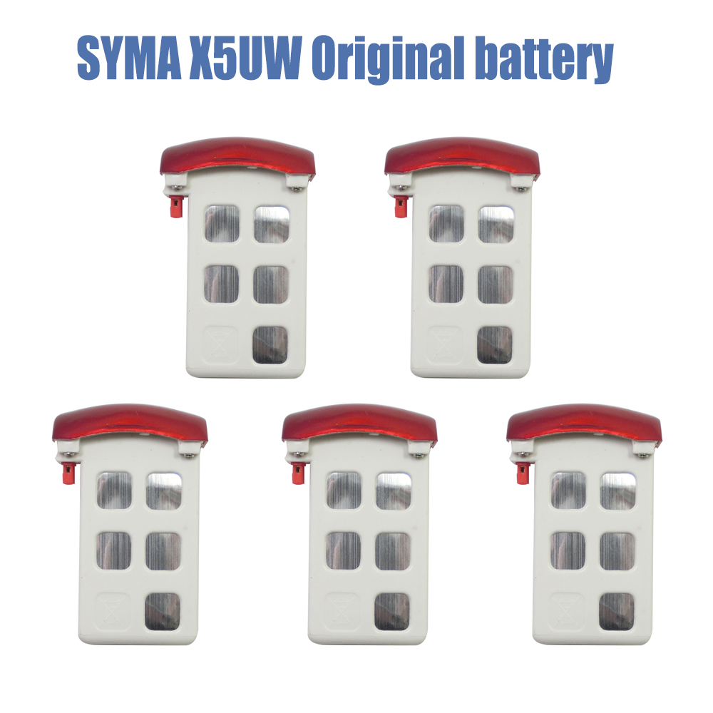 Syma X5UW Battery RC Helicopter Drone Spare Parts Accesaries Original Li-po Batteries For SYMA X5UW X5UC 3pcs battery and european regulation charger with 1 cable 3 line for mjx b3 helicopter 7 4v 1800mah 25c aircraft parts
