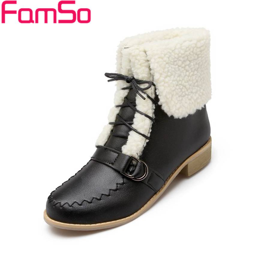 Plus Size34 43 2016 new Sexy font b Women b font Boots black Autumn Martin Boots