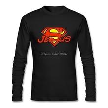 Супер Иисус футболка с длинным рукавом мужская футболка поп вечерние хлопковые футболки с круглым вырезом
