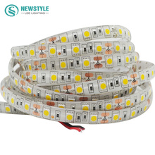 5 m/roll SMD 5050 impermeable luz de Tira LLEVADA flexible Los 60led/m DC 12 V Blanco/Caliente blanco/Rojo/Verde/Azul/RGB