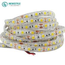 5m/roll SMD 5050 waterproof LED Strip flexible light 60Led/m DC 12V White / Warm white / Red /Green /Blue / RGB