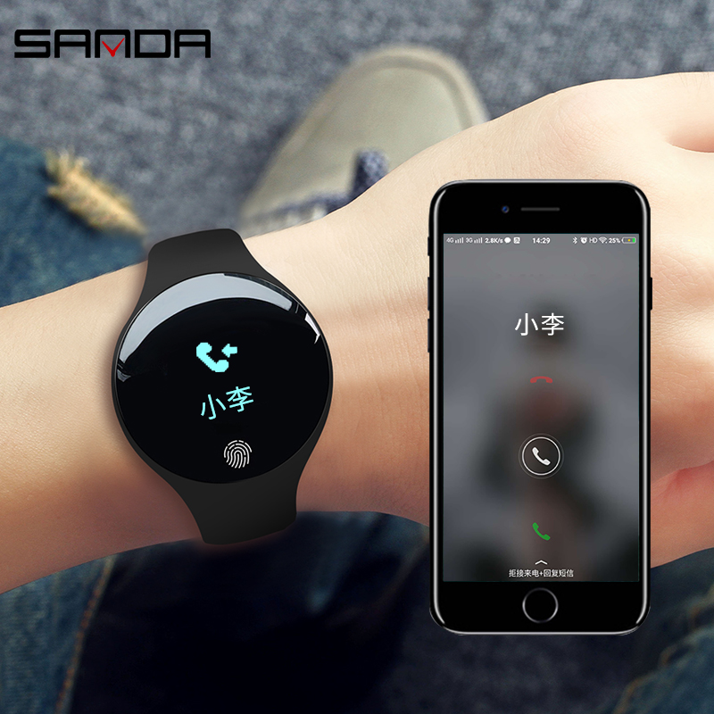 SANDA Waterproof Bluetooth Smart Watch Pedometer Fitness Tracker Call Reminder Smartwatch For IOS Android Men Women Clock SD01 smart watch men women sports watches waterproof bluetooth smartwatch pedometer call reminder fitness track clock for android ios