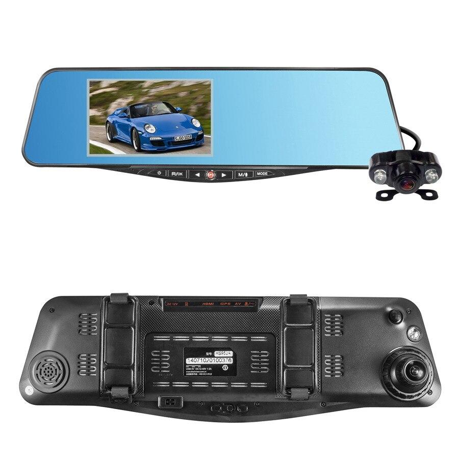 hs950a allwinner a20 dual lens car dvr camera 5 inch 1080p car rear view mirror dvr 170 degree. Black Bedroom Furniture Sets. Home Design Ideas