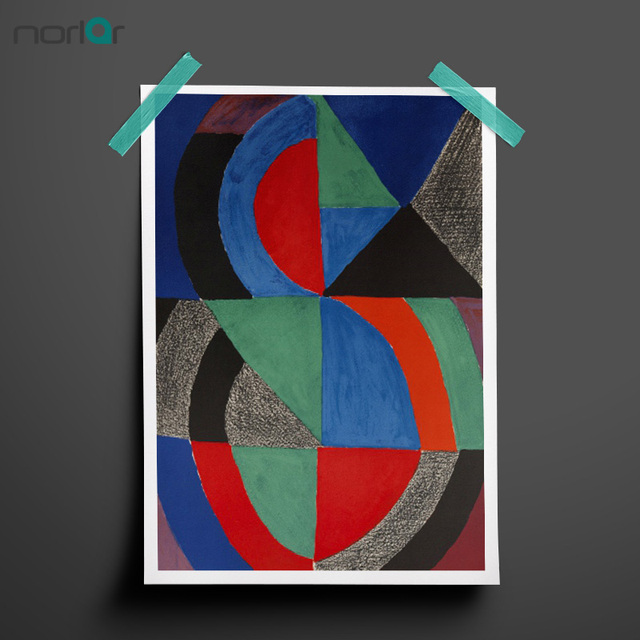 HD Printed Oil Paintings  Abstract Color Geometric Circle Canvas Painting Wall Art Prints Poster Home Decor NO FRAME
