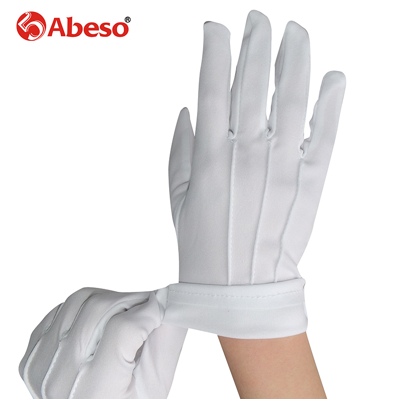 ABESO 10 Par Hvid dacron Ceremonielle handsker driver Magiker Server - Sikkerhed og beskyttelse - Foto 3