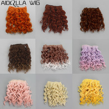 Dolls Accessories 15cm*100CM 1PC Curly Hair Extensions for 1/3 1/4 1/6 BJD Doll Wig Hair for Rissian Handmade Doll DIY Doll Wigs new arrival 1 piece 100cm long wigs wave small curly long wig hair tree for 1 3 1 4 1 6 bjd diy dolls hair