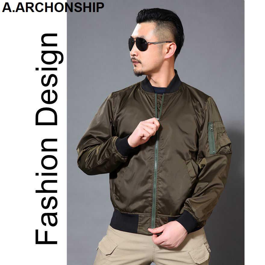 מותג 2017 שחור דק של הגברים קיץ סתיו MA1 מפציץ חיל אוויר מעיל טיסה צבאי בייסבול להאריך ימים יותר מעילי היפ הופ streetwear