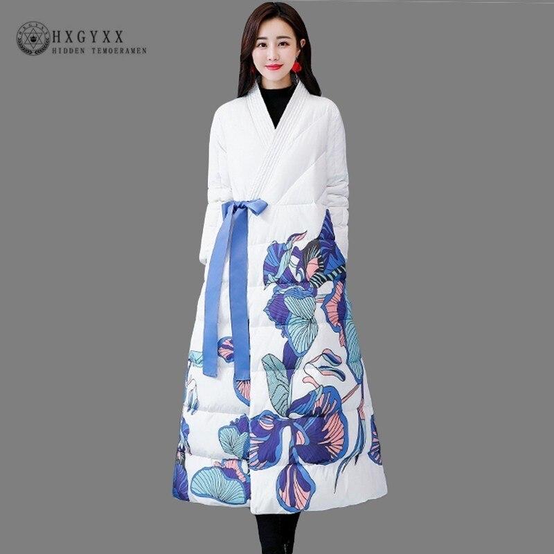 Matelassé Color Floral Veste Style Col Femmes Hiver Coton Chinois qg0w0XYx