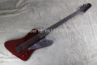 Free shipping New Arrival Custom Red Electric Bass Guitar 4 Strings Thunderbird Bass Guitar Mirror shield
