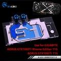 BYKSKI Water Block Use For GIGABYTE AORUS GTX 1080Ti Xtreme Edition/GV-N108TAORUS-11GD/Full Cover Graphics Card Copper Radiator