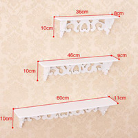 One Set Three Pieces White Wood Display Wall Shelf Storage Ledge Home Dector simple cleaning and durability