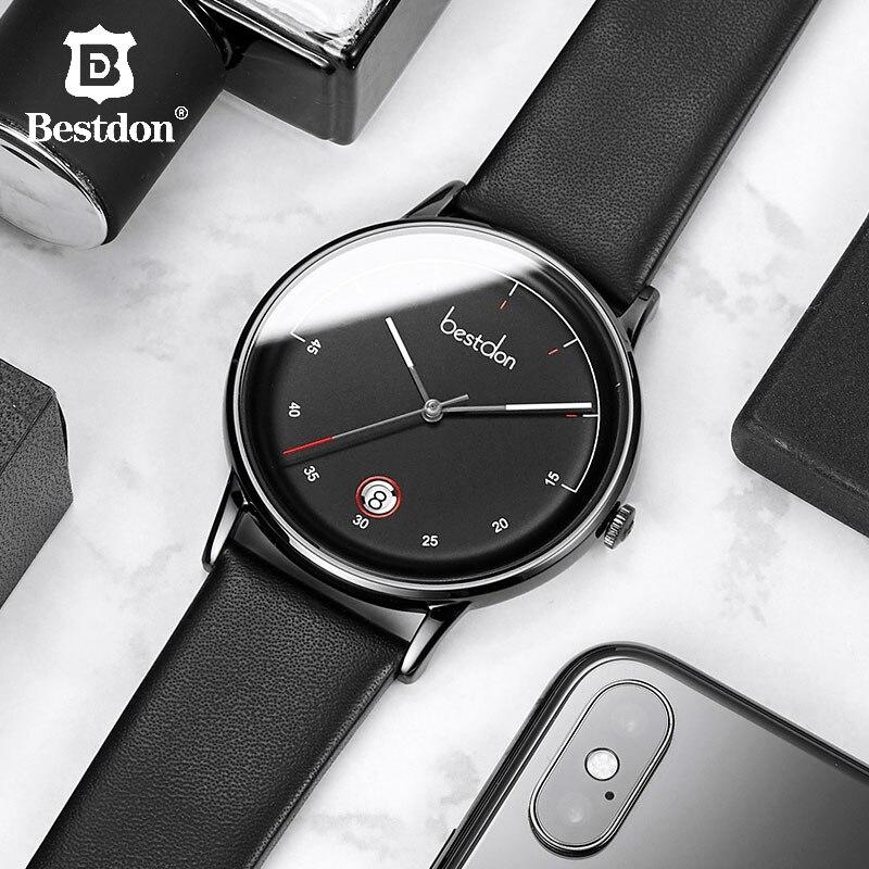 Bestdon Herren Uhren Top Brand Luxus Mode Uhr Japanischen Importe Quarz Armbanduhr Wasserdicht Datum Leder Mann Uhr 2019-in Quarz-Uhren aus Uhren bei  Gruppe 1