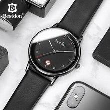 Bestdon Mens Watches Top Brand Luxury Fashion Clock Japanese Imports Quartz Wristwatch Waterproof Date Leather Man Watch 2019