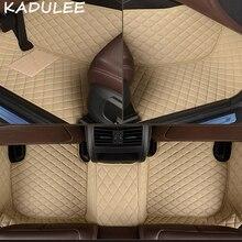 سجاد سيارة من الجلد الصناعي من KADULEE لسيارات Hyundai Tucson 2005 2013 2014 2015 2016 2017 2018 غطاء سجادة سيارة مخصص
