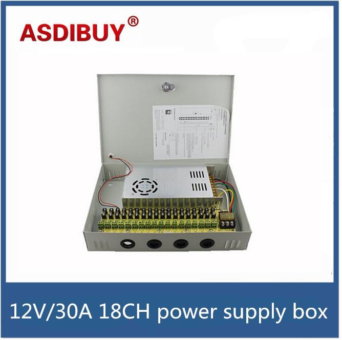 ФОТО 18CH 12V 30A CCTV power supply box / 12V 30A 350W monitor power supply / switch power supply for security camera