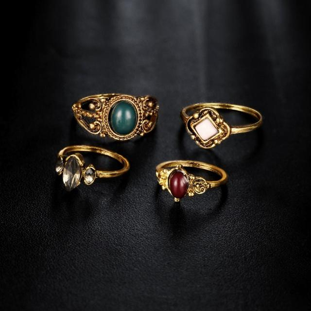 brixini.com - Nienna™ Vintage Silver Above Knuckle Rings 4PCS/Set