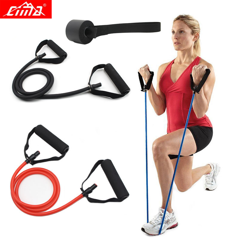CIMA Resistance Bands Fitness Pull rope Gym Muscle Chest Developer Loop Rubber Tube Yoga Door Men women Pedal Exerciser