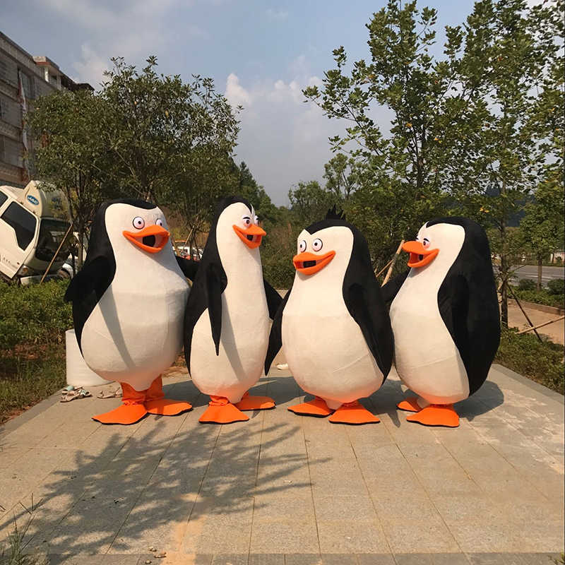 2018 New Madagascar Penguin Mascot Costume Cartoon Character Party Dress  Costume Fancy Dress for Party&Halloween