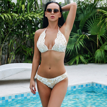 MISS ORD Missord 2019 Women Sexy Lace Bikini Beachwear Swimsuit Ladies Bathing