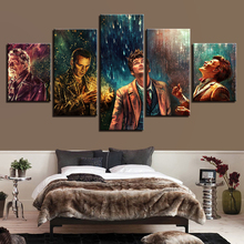 Modern Canvas Pictures HD Printed Wall Art Framework 5 Pieces Doctor Who Movie Characters Living Room Home Decor Painting Poster