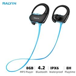 Ralyin portable wearable MP3 music player 8GB headphones player mp3 player headset sport headphones mp3 Waterproof for xiaomi