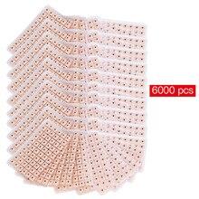 6000 шт./компл. магниты одноразовые Пресс иглы ушные семена акупунктуры для акупунктурные тапочки китайская терапия ушных массажа фасоли расслабиться