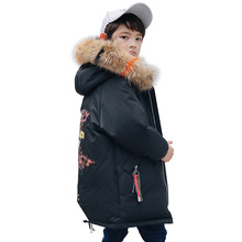 Boys Winter Jacket Children Duck Down Coat Kids Long Fur Parka Baby Boy Snowsuit Infant Overcoat Child Snow Wear Costumes