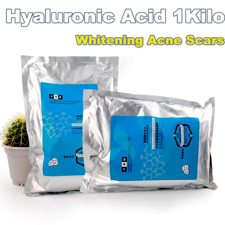 1KG Hyaluronic Acid Whitening Scars Acne Control Soft Powder Mask Powder Free Shipping Hospital Equipment 1000g cosmetics grade ascorbyl l ascorbic acid powder skin whitening powder free shipping for sale