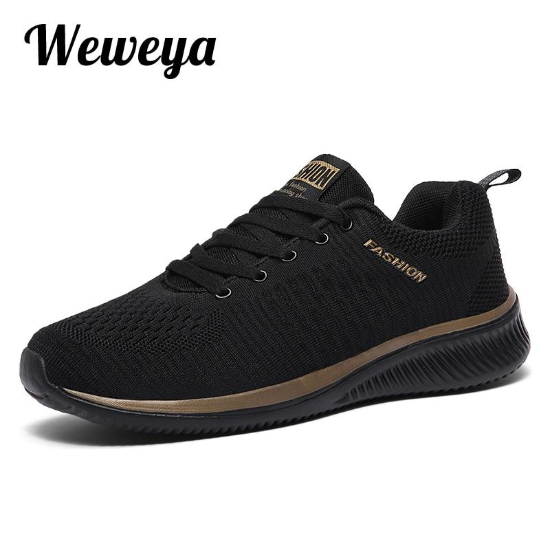 US $12.98 40% OFF|Weweya Neue Atmungsaktive Männer Turnschuhe Schuhe Super Licht Schuhe Männlichen Sommer Männer Casual Schuhe Große Größe 47 Paar