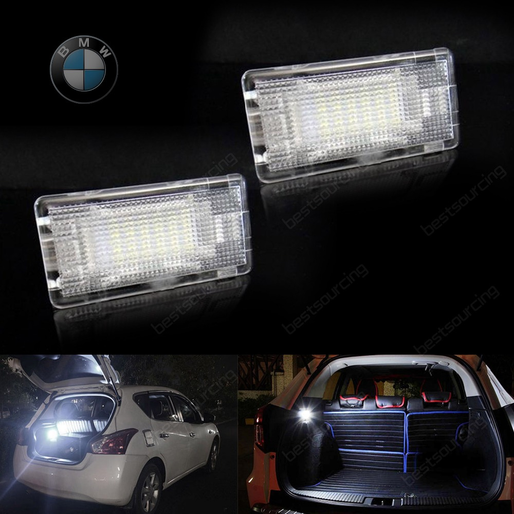 ФОТО LED Footwell Luggage Trunk Boot Light White E39 E60 F10 E63 E38 E65 E81 E82(CA201)