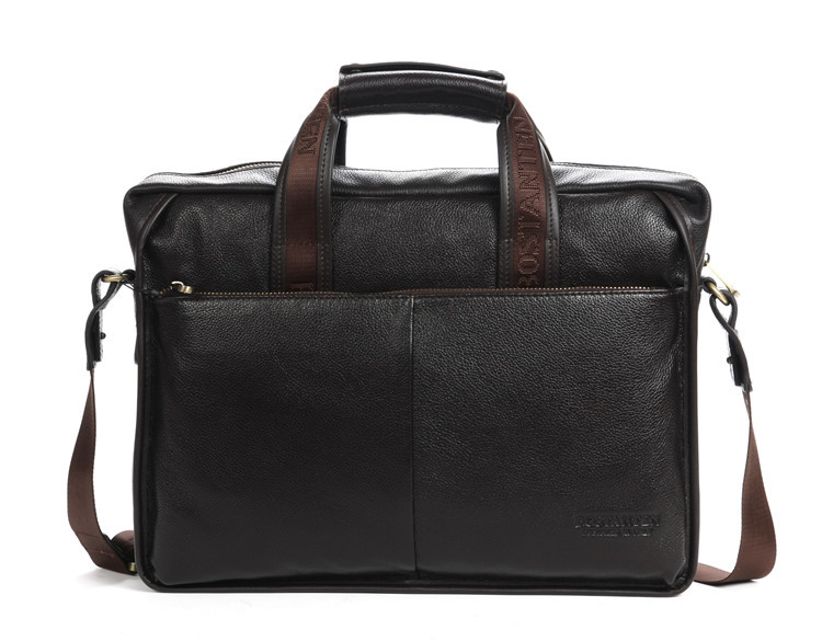 Luxury Brand Designer First layer of Cowhide men bag fashion genuine  leather handbags.best Business briefcase for Gentlemen-in Briefcases from  Luggage ... 2cd969091a01f