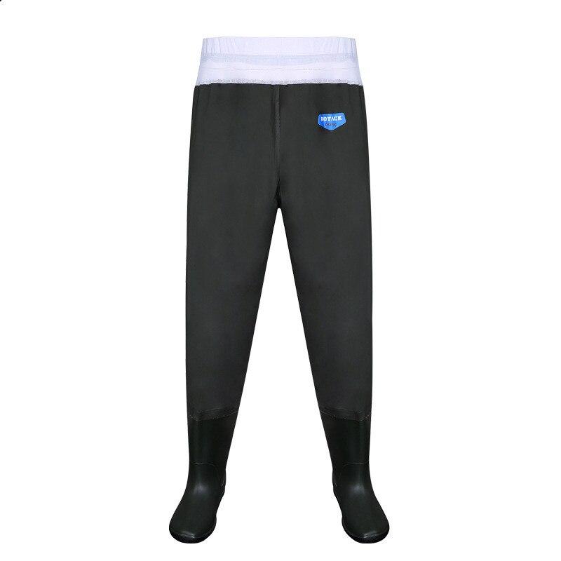 Underwater Half Waist PVC Waterproof Fishing Pants Men Outdoor Hunting Fishpond Camflage Breathable Wadering Trousers Rain Boots