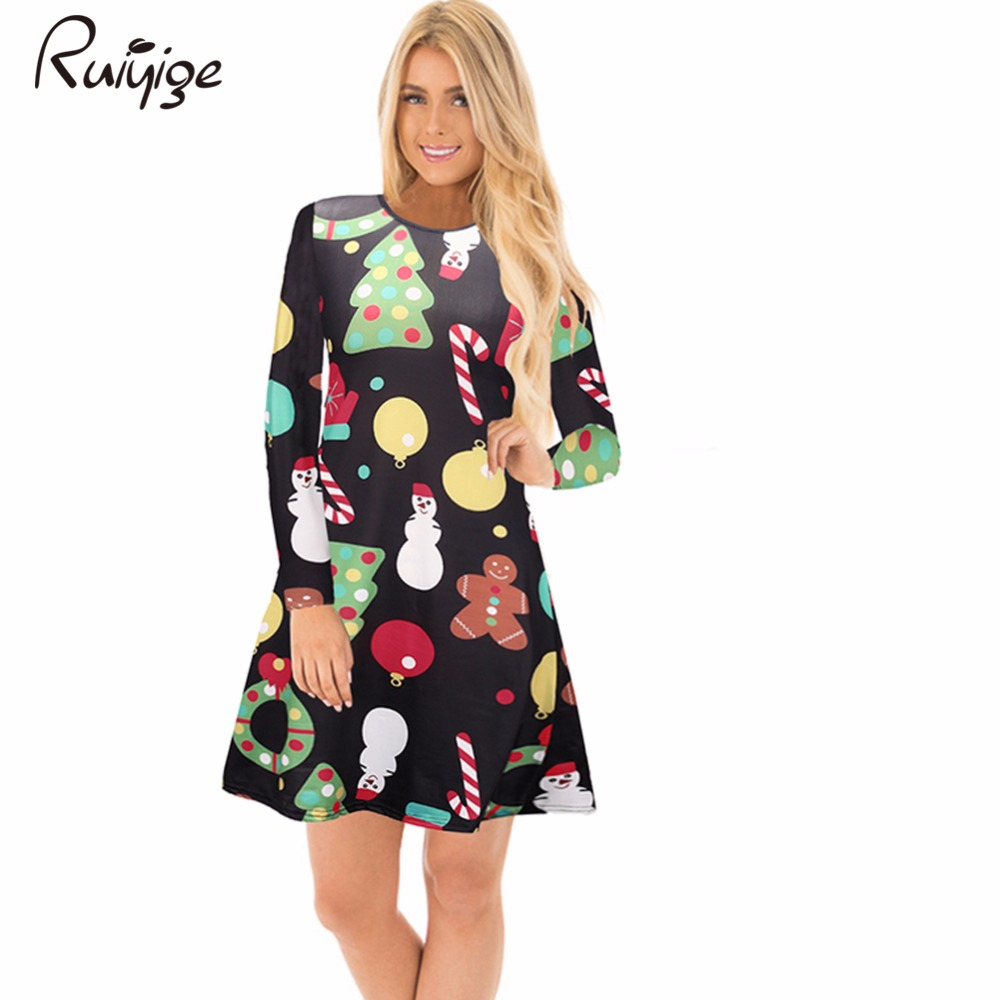 Ruiyige 2017 Autumn Womens Dresses Casual Party