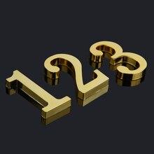 10 см Высота позолоченный металлический дом номера двери номер цифра дл обозначения номера дома или квартиры